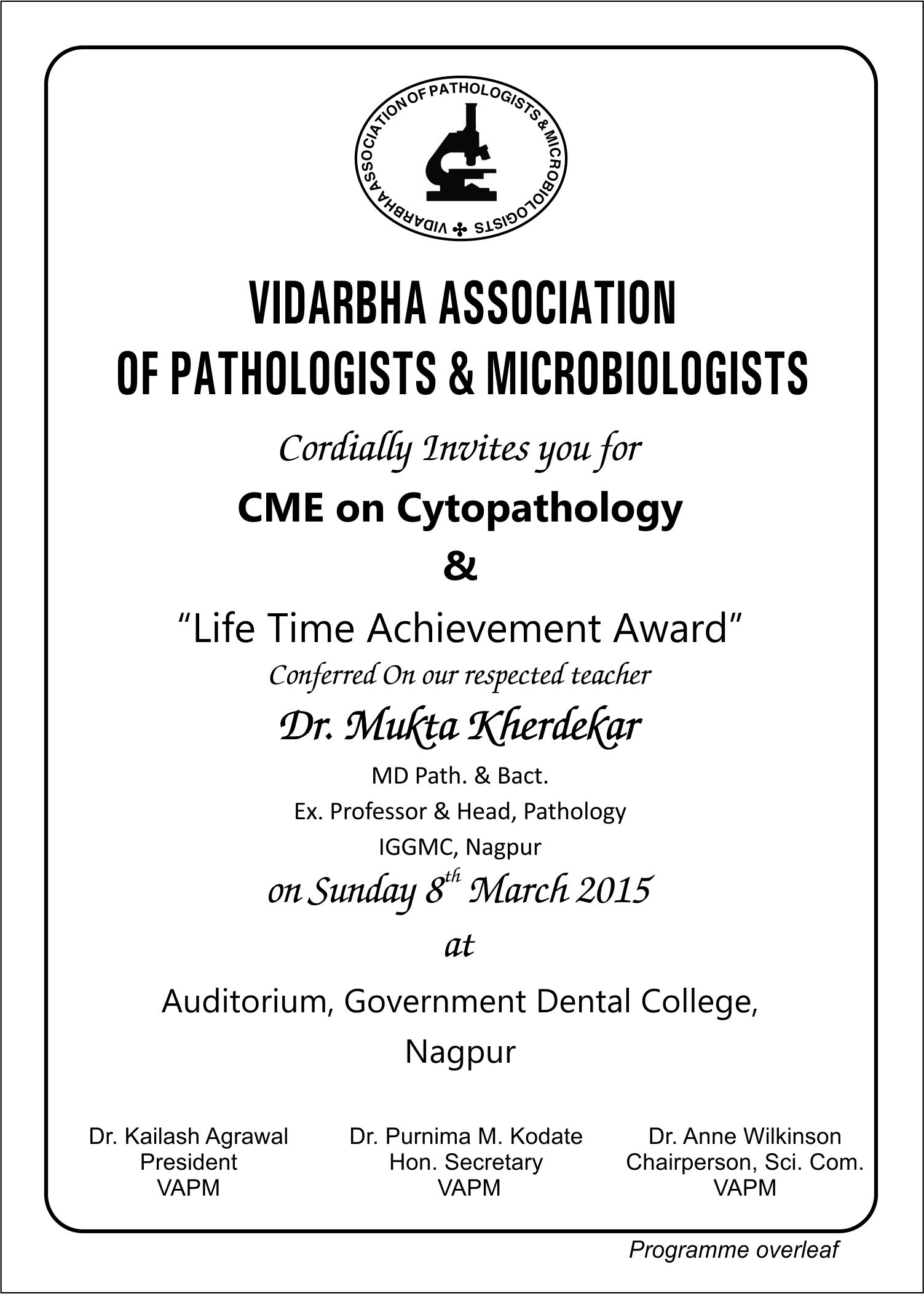 CME on Cytopathology with felicitation of our respected teacher Dr